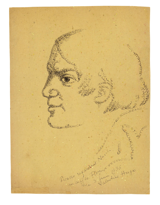 'Picasso regardant Nusch': Portrait of Picasso