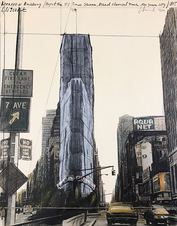 Wrapped Building, Project for 1 Times Square, New York